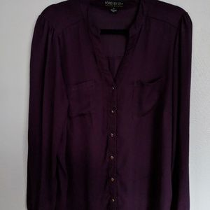 Sheer Forever 21 1x Womens Sheer Blouse